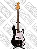 Oscar Schmidt by Washburn P-Style Electric Bass, Trans Black, OSB-400C TBK