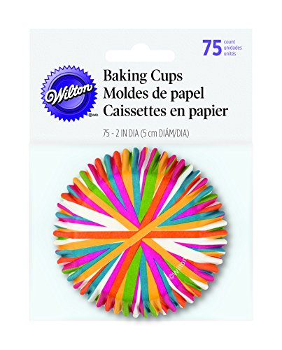 (Wilton 415-1868 BAKECUPS COLOR WHEEL 75CT, Standard,)