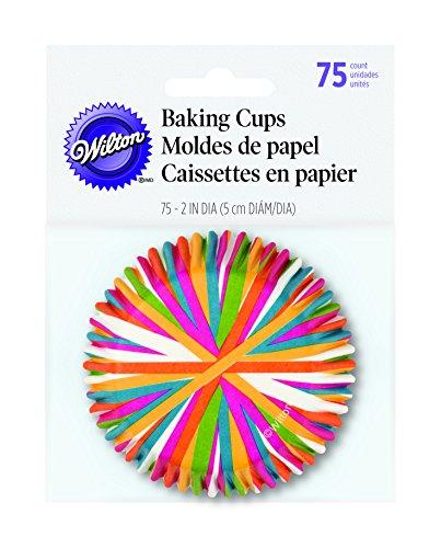 Wilton 415-1868 BAKECUPS COLOR WHEEL 75CT, Standard, Multicolored -