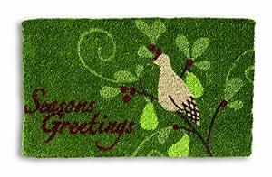 """Tag Season's Greeting Christmas Coir Mat 18"""" x 30"""""""