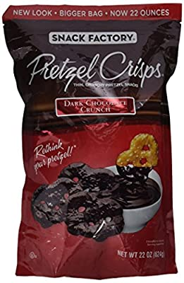 Snack Factory Pretzel Crisps Dark Chocolate Crunch - 22 Oz.