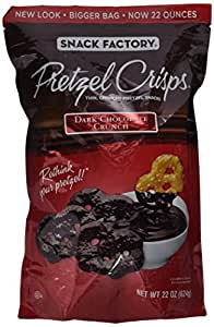 Amazon Com Snack Factory Pretzel Crisps Dark Chocolate