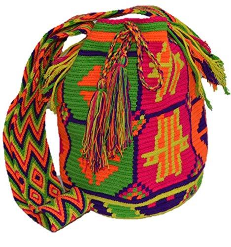 Bolso Colombiano Wayuu Autentico Algodón Salvaje Varios: Amazon.es: Zapatos y complementos