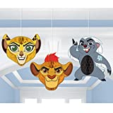 Lion Guard Honeycomb Decorations 3 count Birthday Party Supplies Lion King Hanging