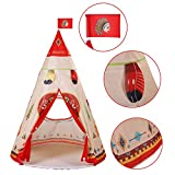 """PlayMaty Kids Teepee Tent Indoor Princess Castle Play Tents Outdoor Large Playhouse for Children's Toys and Games, 55""""x 53"""""""