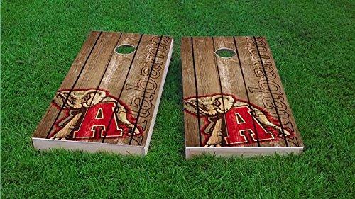 - Tailgate Pro's Alabama Crimson Tide Distressed Cornhole Boards, ACA Corn Hole Set, Comes with 2 Boards and 8 Corn Filled Bags