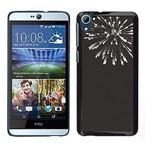 iKiki Tech / Estuche rígido - Negro Blanco Fuegos artificiales 4'Th - HTC Desire D826