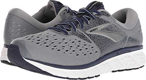 5460af6162e98 Galleon - Brooks Men s Glycerin 16 Grey Navy Black 9.5 EE US