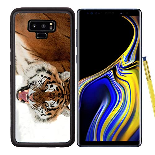(Liili Premium Samsung Galaxy Note 9 Aluminum Backplate Bumper Snap Case The Siberian Panthera Tigris altaica Close up Portrait Isolated on White Image ID 14726831 )