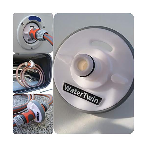51eE0CwOD%2BL Wassertankdeckel Adapter mit Anschluss für Gardena System für Wohnmobil, Caravan, Boot mit Überlauffunktion und…
