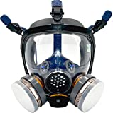 Organic Vapor Respirator full face gas mask with Double Activated Carbon Air Filter