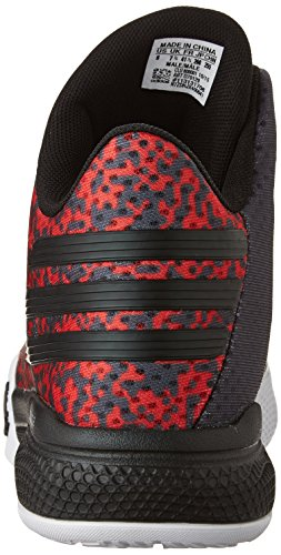 new product c292b 809a4 adidas Performance Mens Light Em Up 2 Basketball Shoes,BlackWhiteScarlet,