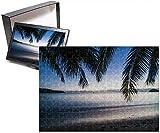 Photo Jigsaw Puzzle of Sunset over the beach of the Korovou Eco-Tour Resort, Naviti, Yasawas, Fiji