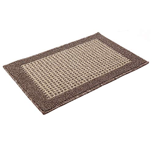 28X18 Inch Washable Kitchen Rug Mats are Made of Polypropylene Square Rug Cushion Which is Anti Slippery and Stain Resistance,Brown