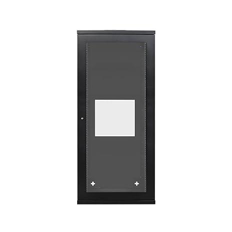 Amazon 27u Full Weld Wall Mount Cabinet 600x650 Glass Door