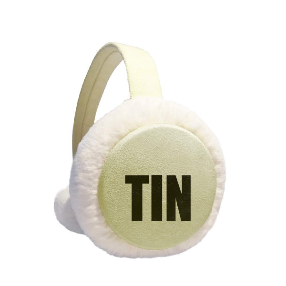 Tin Element Name Chemistry Winter Warm Ear Muffs Faux Fur Ear