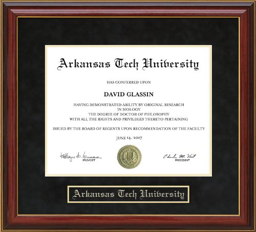 (Wordyisms Arkansas Tech University (ATU) Mahogany Diploma Frame)