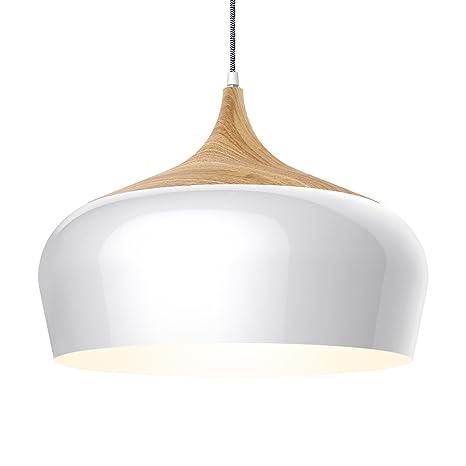 Tomons lámpara de techo lámpara colgante plafonera en metal efecto madera, bombilla LED de 8W para comedor, cocina, bar, sala de estar estudio - ...