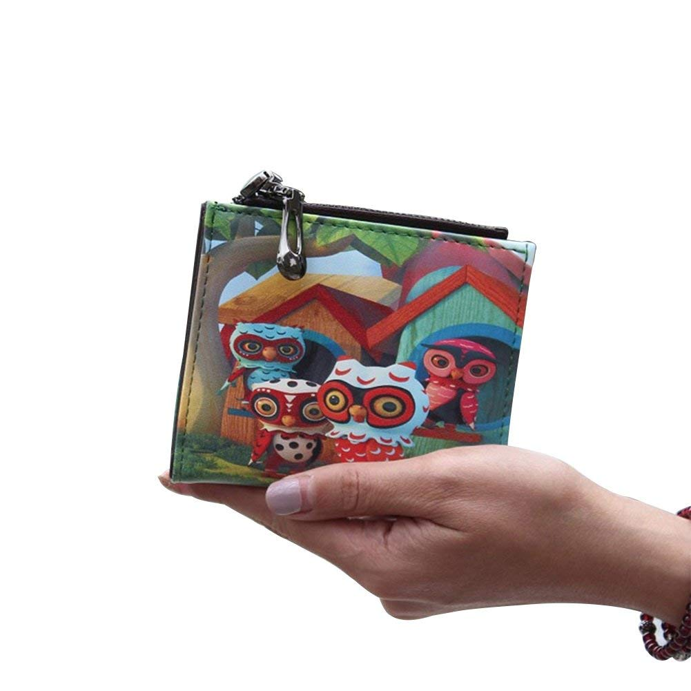 Owl Nawoshow Women Cute Small Wallet Cherry Pattern Coin Purse Card Holder Clutch Bag