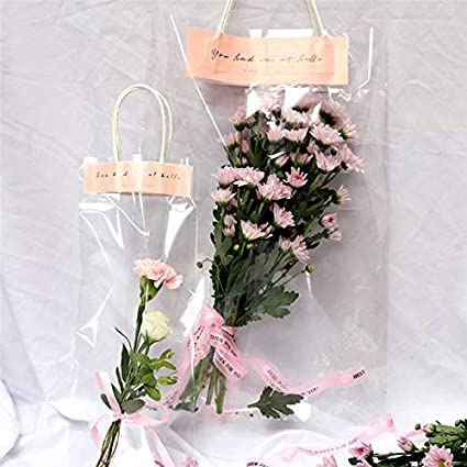5336efe1e80a Amazon.com: Gift Bags Wrapping Supplies - 10pcs Rose Flower Tote Bag ...