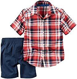 Carter\'s Baby Boys 2 Pc Playwear Sets 229g426, Plaid, 9 Months Baby