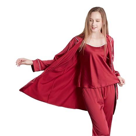 Loveni Pijamas De Seda De Las Mujeres Ropa De Casa De Seda De Las Señoras Ropa