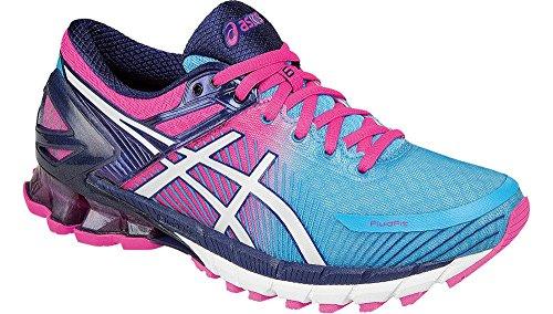 ASICS Women's Gel-Kinsei 6 Running Shoe, Aquarium/White/Hot Pink, 6.5 M US