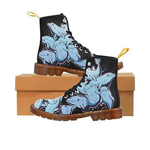Tarjetas De Juego Interestprint Print Botines Con Cordones Zapatos De Moda Para Hombres Delfines