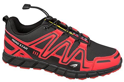 gibra - Zapatillas de running de Material Sintético para hombre blanco / rojo
