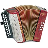 Hohner 3000AR Erica Two-Row AD, Pearl Red