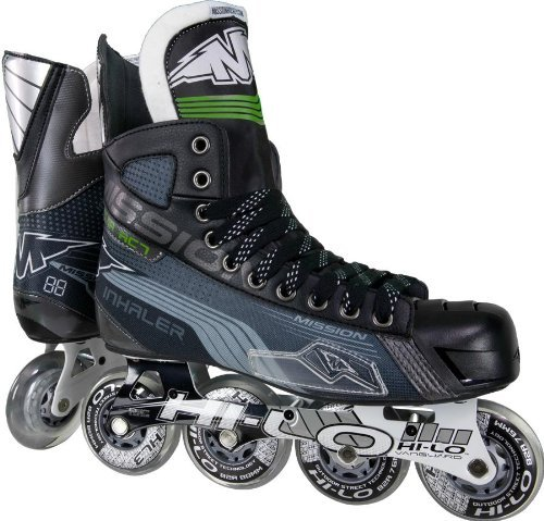 Mission Inhaler AC7 Youth Inline Hockey Skates, E (Mission Hockey Ice Skates)