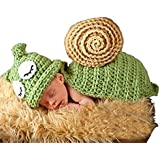 Eyourhappy Baby Photography Prop Animal Knitted Crochet Costume Hat Caps Snail Green