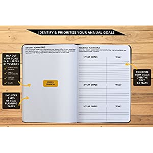 "Ignited Life Planner - Best One Year Undated Project Planner, Monthly and Weekly Calendar and Goal Achievement System (7x10"")"