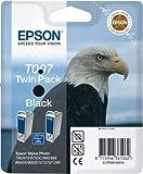 Epson Original T007402 T007 Black Ink Cartridge - Twin Pack