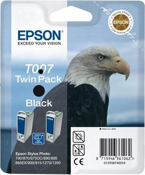 Epson C13T00740210 - Pack de 2 cartuchos de tinta, negro válido para EPSON Stylus Photo 1290 / 1290S / 1270/915 / 900/890 / 895/870: Amazon.es: Oficina y papelería