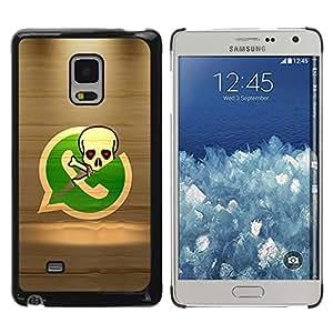 LECELL -- Funda protectora / Cubierta / Piel For Samsung Galaxy Mega 5.8 9150 9152 -- Pirate Skeleton Phone --