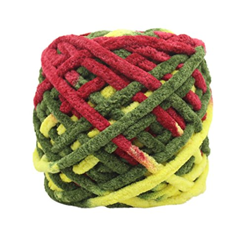 Smdoxi Wool Super Chunky Yarn Bulky Roving Yarn for Finger Knitting Crocheting Felting Making Rugs Blanket and Crafts (8715FF)