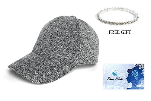Knit Soft Fashion Adjustable Hat Baseball Cap (Black) (Globe Athletic Cap)