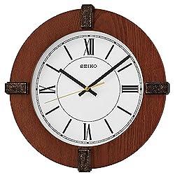 Seiko Wood Wall Clock (Model: QXA666BLH)