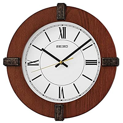 Seiko Wood Wall Clock (Model: QXA666BLH) - Wooden Case Quiet Sweep Second Hand Analog Display - wall-clocks, living-room-decor, living-room - 51eE4P9nE2L. SS400  -
