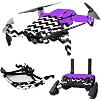 MightySkins Skin for DJI Mavic Air Drone - Purple Chevron | Max Combo Protective, Durable, and Unique Vinyl Decal wrap cover | Easy To Apply, Remove, and Change Styles | Made in the USA