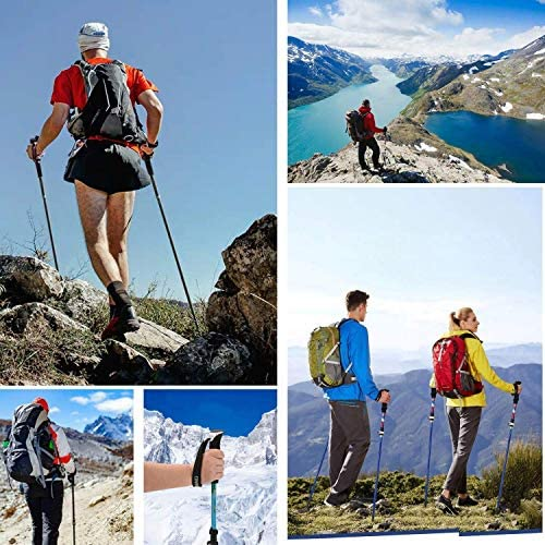 AEETT Trekking Poles Collapsible Lightweight Aluminum 7075 Hiking Poles Ultralight for Trekking Sticks for Men Women