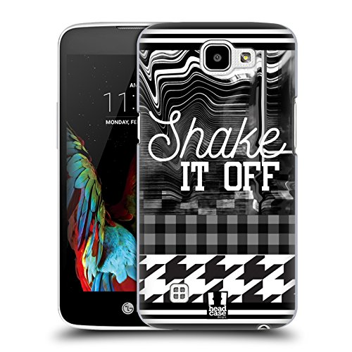 Head Case Designs Shake It Off Black And White Trends Hard Back Case for LG - White Finish Sha
