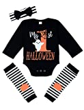 #4: My First Halloween Baby Girl Boy Clothes Newborn Baby Outfits with Headband and Leg Warmer Sets 3PC
