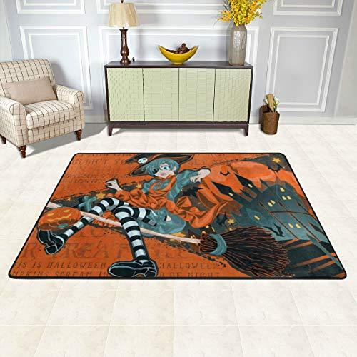 (Angela R Mathews Black Butler-Halloween Non-Slip Carpet Area Rug Modern Flannel Microfiber Anime/Cartoon Rectangle Carpet Decor Floor Rug Living Room,Bedroom,Study Floor Mat 6' X)