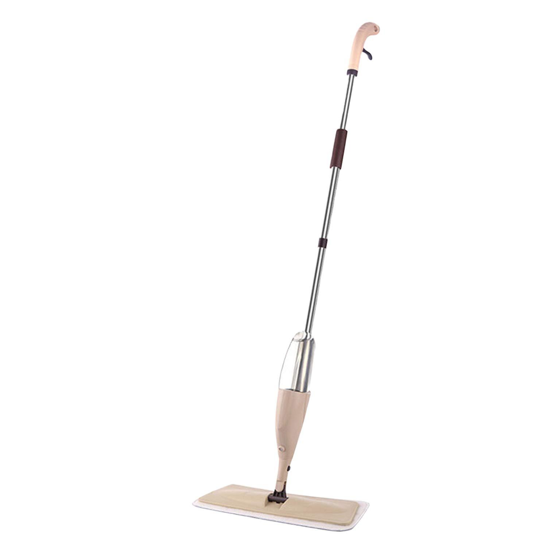 Ying Spray Mop Wet Floor Mop Reusable Microfibre Pad Refillable Bottle Reusable Microfibre Pad Hardwood, Laminate, Wood (Coffee)