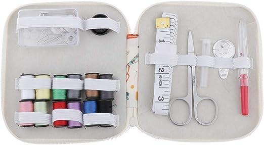 Sharplace Kit de Costura Incluye Bolsa de Cremallera,Carretes,Cinta de Medición,Tijeras,Sostenedor de Pernos,Enhebrador,Ripper,Dedal etc - Impresión: Amazon.es: Hogar