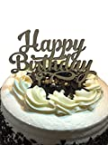 HAPPY BIRTHDAY Wooden Cake Topper - Celebration Cupcakes Decorating Pick Supplies - Cupcake Decor Party Cake Toppers - Food Safe Wood Decorations by Jolly Jon