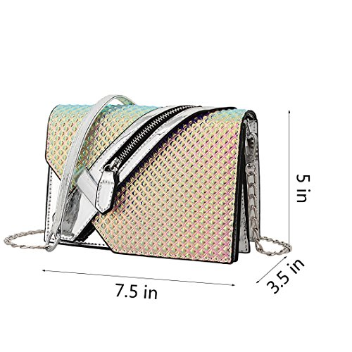 Evening Party Crossbody Handbag Women Silver Liliam Bag Holographic Shiny Shoulder Girls Fashion Wedding HPx0HqwY8A