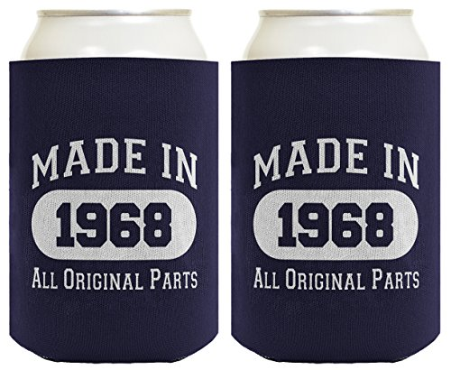 Pepsi Candle (50th Birthday Gift Coolie Made 1968 Can Coolers Coolies 2 Pack Navy)